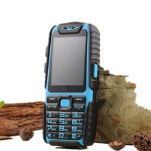 "WaterProof A6 Rugged Power Bank Phone With 2.4"" TFT Shockproof Loud Speaker Strong Flashlight Dual SIM Senior Outdoor Phone"