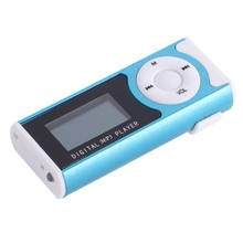 Mini USB Clip LCD Screen MP3 Media Player Support 16GB Micro SD TF Cards Support