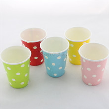 ipalmay 6Colors Polka Dot Paper Drinking Cups Party Favors Supplies Paper Cup Crafts Free Shipping(China)