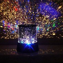 Room hall Novelty USB Night Light Projector Lamp Rotary Flashing Starry Star Moon Sky LED Star Projector Kids Children Baby