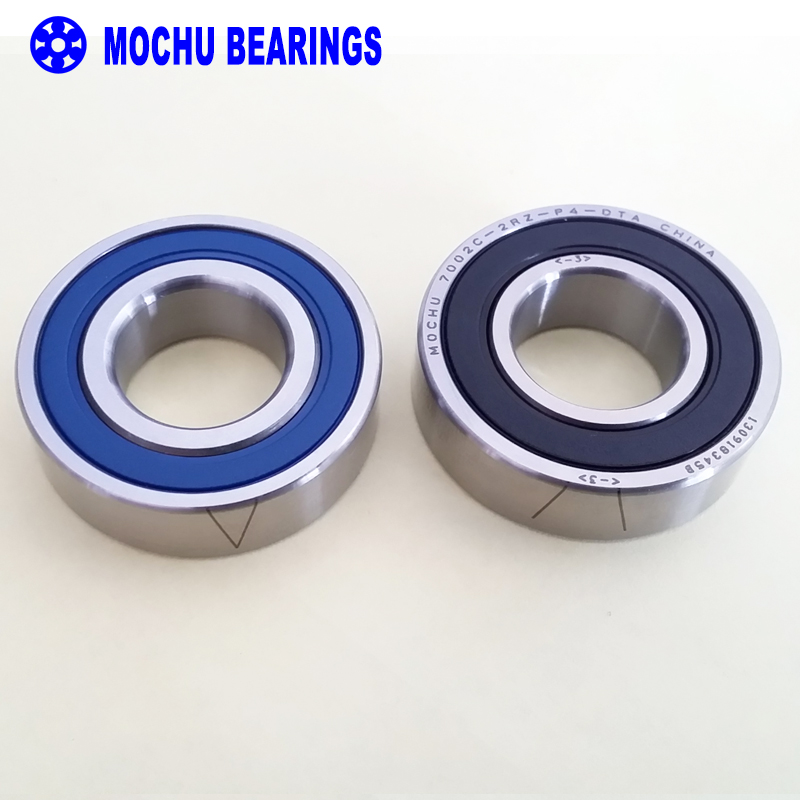 1 Pair MOCHU 7002 7002C 2RZ P4 DT A 15x32x9 15x32x18 Sealed Angular Contact Bearings Speed Spindle Bearings CNC ABEC-7<br>