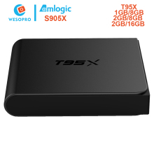 WESOPRO T95X Android 6.0 Smart TV Box with amlogic S905X 1GB/2GB RAM 8GB/16GB ROM WIFI KODI Youtube Netflix air mouse MX3 MX3(China)