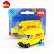 SIKU German Educational/Diecast Metal Model toy Car/Simulation:DHL Post Van Bus/for children's gift or collection/Small