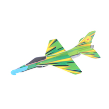 Fashion 1PCS Stretch Flying Glider Planes Aeroplane Childrens Kids Toys Game Cheap Gift DIY Assembly Model Educational Toys(China)