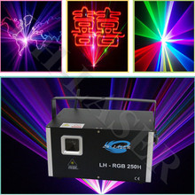 new arrival 3w RGB laser animation scanner projector DMX Stage DJ lighting Dance Show bar disco Party Light Show system