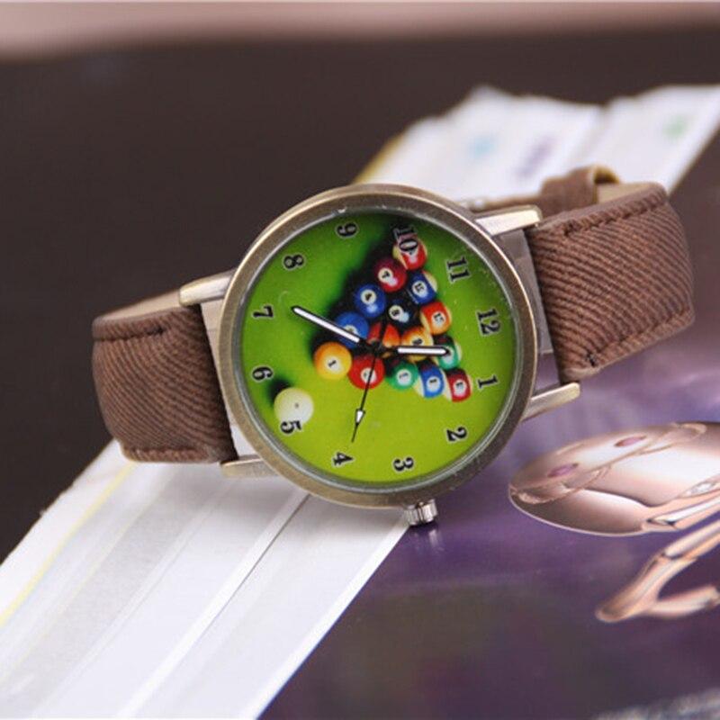 Cindiry Colorful Print Billiards Women Watches 2017 Ladies Watch Female Clock Relogio Feminino Watch For Women As Gifts P20