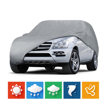 Outdoor Full Car Cover Sun UV Snow Dust Rain Resistant Protection Size L XL Car Covers Waterproof(China)