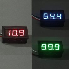 Quality LCD DC 0-100V Red/Blue LED Panel Meter Digital Voltmeter with Three-wire Electrical Instruments Voltage Meters--M25