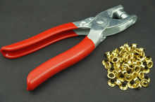 Free Shipping Eyelet punch pliers clamp Eyelets Hole Punch awnings/pool covers Tool Set