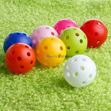 50x Durable Plastic Airflow Hollow Perforated Golf Practice Training Balls Light(China)