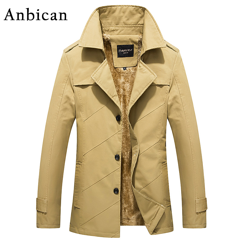 Anbican Fashion Mens Winter Coat Thick Fleece Khaki Parka Jacket 2017 Brand New Windproof Parkas Male Casual Jackets 4XLОдежда и ак�е��уары<br><br><br>Aliexpress
