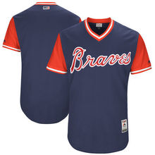 MLB Men's Atlanta Braves Baseball Navy 2017 Players Weekend Authentic Team Jersey(China)