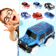 Electronics Car Flashing Lights Magic Tracks Car LED Lights Glowing Track Models Boys&Girls Educational Toy For Children Car Toy