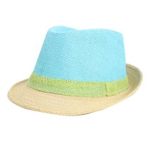 Fashion Patchwork Sun Hats For Women Brim Summer Beach Straw Visor Cap Candy Color(China)