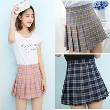 SEXEMARA tennis skorts women skirts girl ladies students skirt high waist dress with panties 1pc