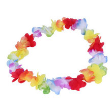 1PC Colorful Artificial Flower Decorative Flowers Wreaths Garlands Hawaiian Tropical Party Fancy Dress Necklace for Girl Women