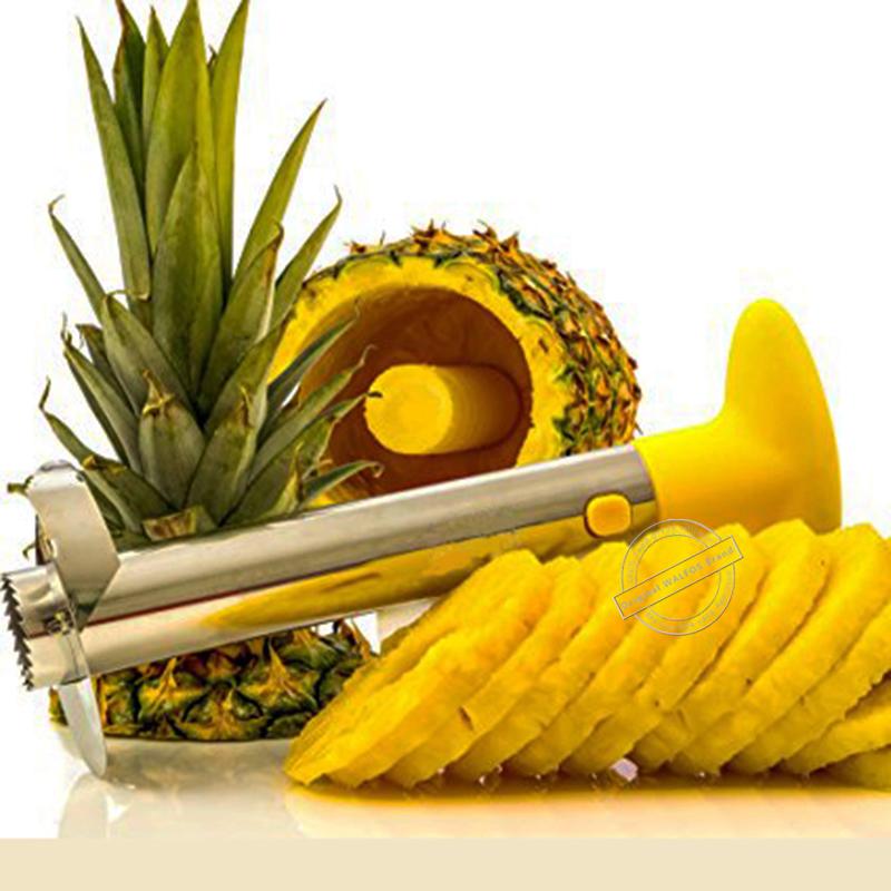 WALFOS Stainless Steel Pineapple Peeler Kitchen Accessories Fruit Knife Cutter Cooking Tools Pineapple Corer Slicer Cutter 8