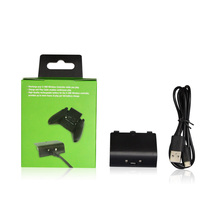 NEW Arrival Replacement  Rechargeable Battery Pack Kit For Xbox One Controller Play With Cable 300MAH battery in a color box