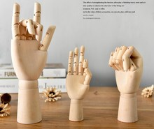 Cute lovely Cartoon Joint Wooden Hand for Decoration doll Mannequin Hand Doll Collectible Toys Free Shipping 18 25 30cm