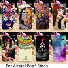 Phone Cases For Alcatel OneTouch Pop 3 5015D 5.0 inch 3G Version 5015 5016A 5016J Case Hard Back Cover Skin Housing Sheath Bag
