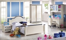 6610# colorful bedroom furniture set bed wardrobe and desk bedroom furniture set(China)