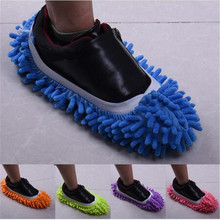 1 PCS Dust Cleaner Grazing Slippers House Bathroom Floor Cleaning Mop Cleaner Slipper Lazy Shoes Cover Microfiber(China)