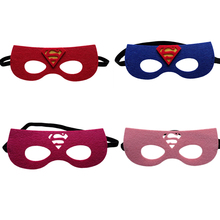 1pc Super Man Mask Batman Super Hero Captain America DC Justice League Kids Birthday Gift Costume Cosplay Party Decor Supplies(China)