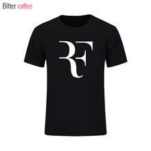 2017 NEW summer  Roger Federer  t shirts Fashion Men T Shirt Top RF perfect t-shirt Fashion  clothing Plus Size
