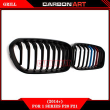 CarbonArt Car Stying Grille For Bmw 1 Series Kidney ABS Front Mesh Replacement Matt Black M Colorful 118i 120i 125i 2015+(China)