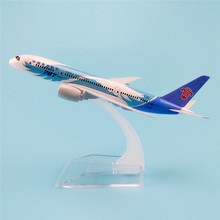 16cm Metal Alloy Plane Model Air China Southern B787 Airways Boeing 787 8 Airlines Airplane Model w Stand Aircraft  Gift