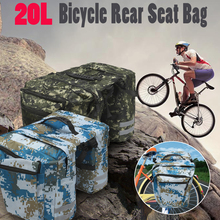 Buy 20L Camo Bicycle Rear Rack Seat Saddle Bag Cycling Bike Pannier Tail Pack Pouch Green/Blue Lightweight Fabric External Mesh Bags for $14.90 in AliExpress store