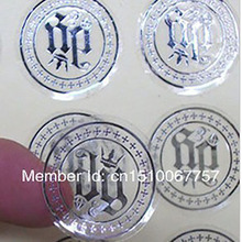 wholesale Free Shipping By Fedex Customize Logo Water-Proof Transparent PVC Sticker Label Custom Silver  Logo  Round shape