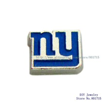 the NFL football teams New York Giants floating locket glass charm for living floating locket 10pcs free shipping FC1150