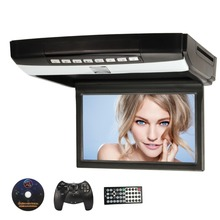 "Pumpkin Car Roof DVD Player Flip Down Slim Monitor 1024*600 10.1"" HD Digital 16:9 TFT Overhead CD Car DVD Player+Game pad"