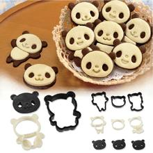 2015 Real Soap Mold 4pcs/set Panda Sandwich Shape Mold Sugar Arts Set Fondant Cake Decorating Tools Kit/biscuit Cookie Cutters(China)