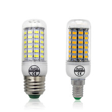 1pcs LED E27 / E14 Lamp SMD 5730 Corn Bulb 69LEDs AC 220V For Chandelier SMD5730 Replace 25W Compact Fluorescent Light Lighting