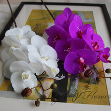 Artificial Flowers Real Touch Artificial Moth Orchid Butterfly Orchid for new House  Home Wedding Festival Decoration