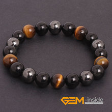 Tiger Eye & Hematite & Black Obsidian Natural Stone Bracelet Energy Jewelry Bracelets For Women Free For Gift Shipping