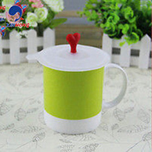 1Pcs Cartoon Anti-dust Silicone Glass Cup Cover Coffee Mug Suction Seal Lid Cap