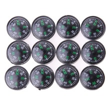 12Pcs/Dozen 20mm Mini Button Compasses Portable Handheld Outdoor Sports Camping Travel Hiking Hunting Emergency Survival Compass(China)