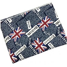 2meter Cotton Canvas Fabric Union Jack British UK Flag Newspaper Printed Fabric Home Textile Cloth DIY Tablecloth Tissus Telas(China)
