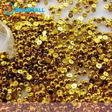 Gold Color Half Round Flatback Pearls Beads Many Sizes for choice loose imitation ABS pearl beads DIY Nail Phone shoes(China)