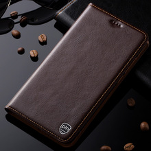 New Luxury Genuine Leather Cover For Xiaomi Redmi Note 4X Magnetic Stand Flip Mobile Phone Case(China)