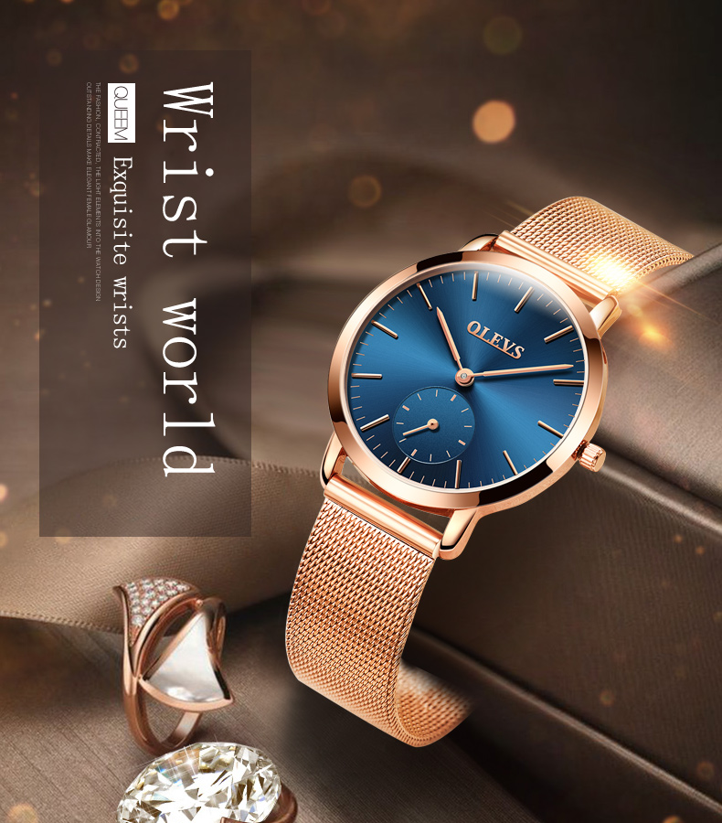 HTB1VRyCSpXXXXbVXpXXq6xXFXXXI - OLEVS Luxury Watches Women's Rose Gold Casual Quartz Watch Stainless Steel Watch Water Resistant Clock relojes hombre 2017 saat