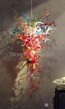 Free Shipping Beautiful Design Big Discount Multi Colored Glass Chandelier(China)