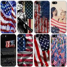 american flag Black Plastic Case Cover Shell for iPhone Apple 4 4s 5 5s SE 5c 6 6s 7 Plus(China)