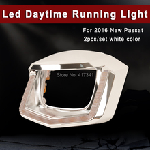 Led Daytime Running Light White Color Upgraded for 2016 New Passat (Low Version) Low Beam to add LED Angel Eye 2PCS/SET
