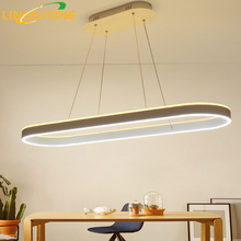 Modern Led Chandelier Lustre Lamp Hanging Lighting White Hanglamp Remote Control Kitchen Restaurant Office Decoration Fixture(China)
