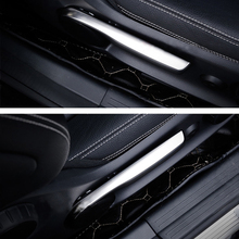 2pcs Seat adjustment trim strips auto interior cover trim decals For Mercedes Benz CLA GLA A,B class Stainless steel Car styling