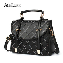 ACELURE New 2017 Women Handbags Casual Diamond Lattice Ladies Messenger Bags Famous Brands Female Tote Min Leather Shoulder Bag